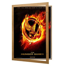 Load image into Gallery viewer, Light Wood movie poster case poster size 24x36 - 1.7 inch width - Snap Frames Direct