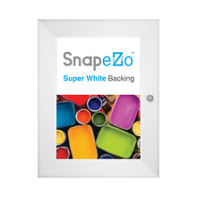 Load image into Gallery viewer, White poster case  poster size 8.5x11 - 1.4 inch profile - Snap Frames Direct