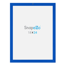 Load image into Gallery viewer, Blue locking snap frame poster size 18X24 - 1.25 inch profile - Snap Frames Direct