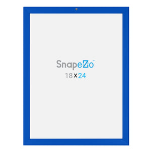 Blue locking snap frame poster size 18X24 - 1.25 inch profile - Snap Frames Direct