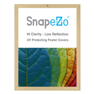 Gold locking snap frame poster size 18X24 - 1.25 inch profile - Snap Frames Direct