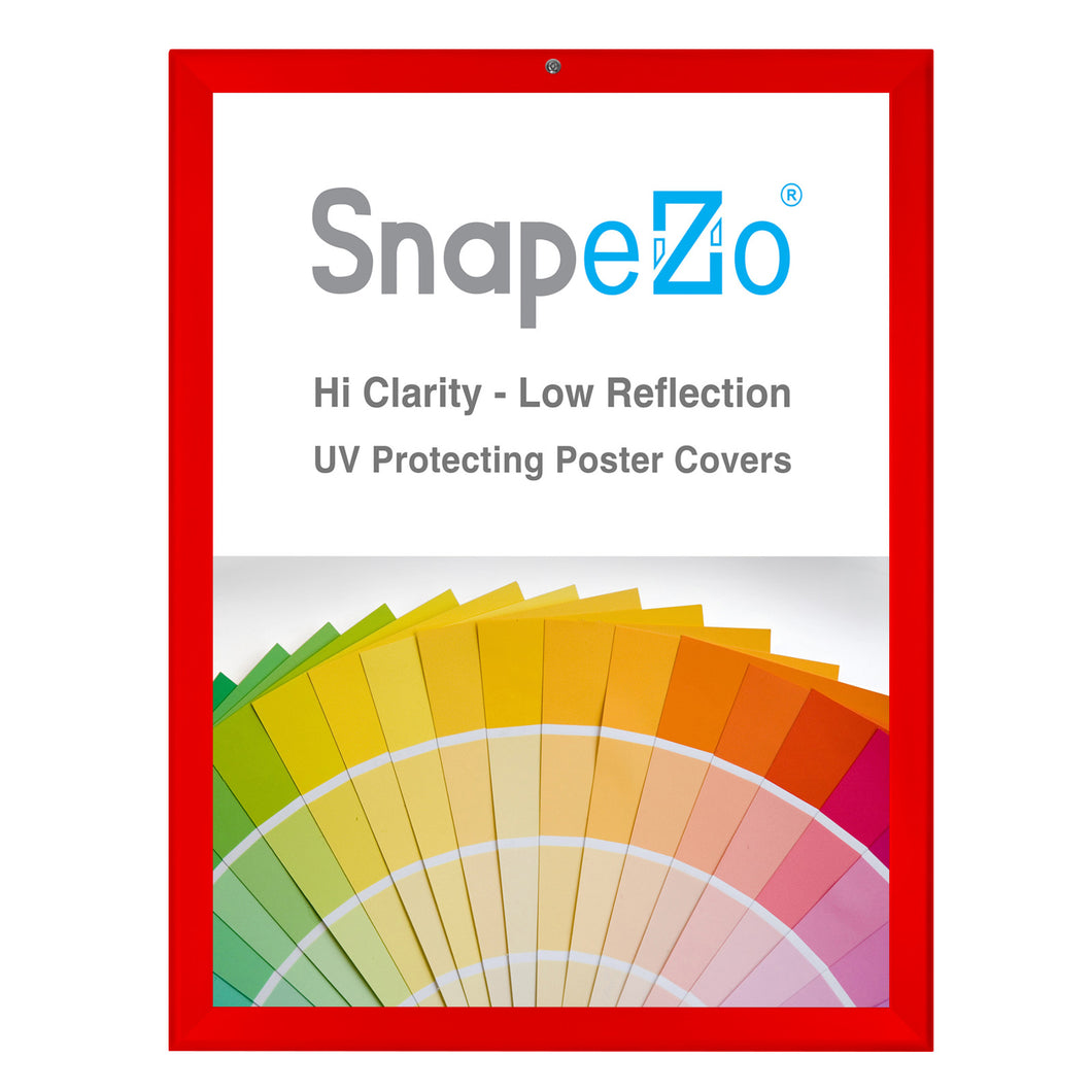 Red locking snap frame poster size 18X24 - 1.25 inch profile - Snap Frames Direct