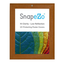 "Load image into Gallery viewer, 8.5x11 Dark Wood SnapeZo® Return Locking - 1.25"" Profile"