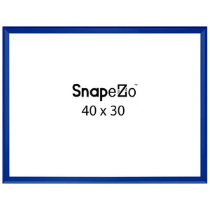 Blue locking snap frame poster size 30x40 - 1.25 inch profile - Snap Frames Direct