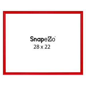Red locking snap frame poster size 22X28 - 1.25 inch profile - Snap Frames Direct
