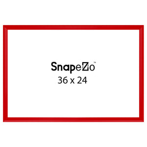 Red locking snap frame poster size 24X36 - 1.25 inch profile - Snap Frames Direct