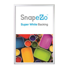 "Load image into Gallery viewer, 24x48 Silver SnapeZo® Return Snap Frame - 1.7"" Profile"