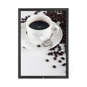 Black locking snap frame poster size 11X17 - 1.25 inch profile - Snap Frames Direct