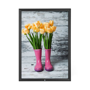 Black locking snap frame poster size 20X30 - 1.25 inch profile - Snap Frames Direct