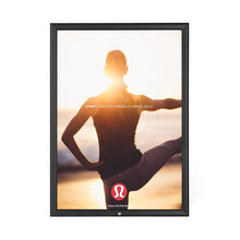 Load image into Gallery viewer, Black locking snap frame poster size 11X17 - 1.25 inch profile - Snap Frames Direct