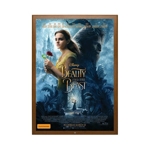 Dark Wood locking movie poster frame poster size 27X40 - 1.25 inch width - Snap Frames Direct