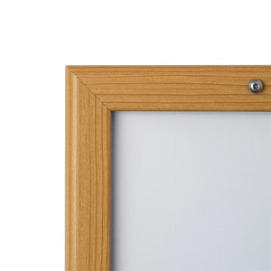 Light Wood locking snap frame poster size 24X36 - 1.25 inch profile - Snap Frames Direct