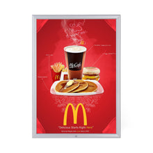 Load image into Gallery viewer, Silver locking snap frame poster size 22X28 - 1.25 inch profile - Snap Frames Direct