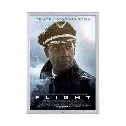 Silver locking movie poster frame poster size 24X36 - 1.25 inch width