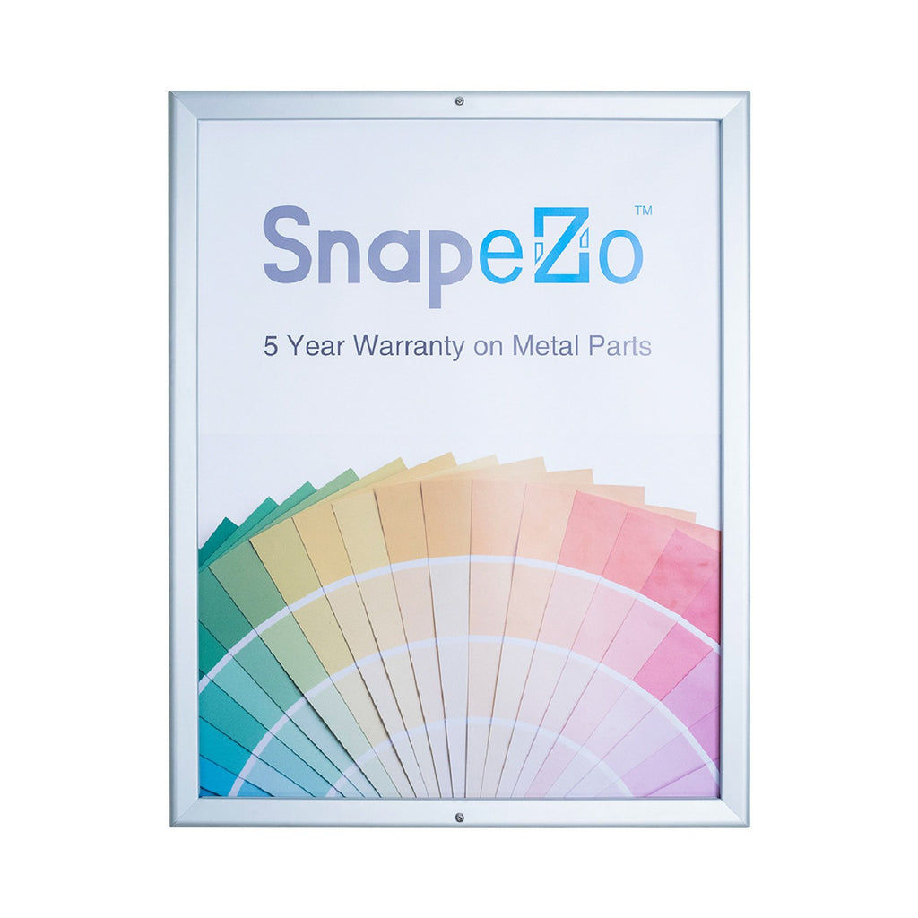 Silver locking snap frame poster size 11X17 - 1.25 inch profile - Snap Frames Direct