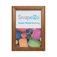 Load image into Gallery viewer, Dark Wood locking snap frame poster size 11X17 - 1.25 inch profile - Snap Frames Direct