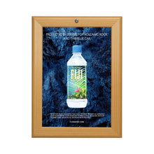 Load image into Gallery viewer, Light Wood locking snap frame poster size 11X17 - 1.25 inch profile - Snap Frames Direct
