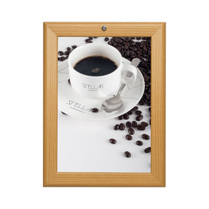 Light Wood locking snap frame poster size 16X20 - 1.25 inch profile - Snap Frames Direct