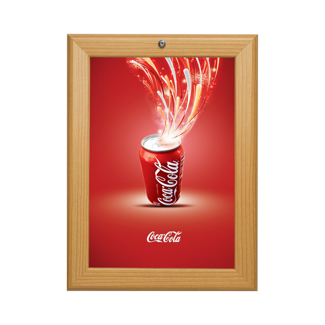 Light Wood locking snap frame poster size 18X24 - 1.25 inch profile - Snap Frames Direct
