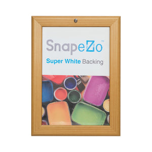 Light Wood locking snap frame poster size 11X17 - 1.25 inch profile - Snap Frames Direct