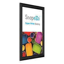 "Load image into Gallery viewer, 15x25 Black SnapeZo® Return Snap Frame - 1.2"" Profile"