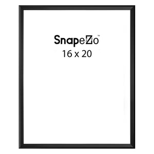 Black locking snap frame poster size 16X20 - 1.25 inch profile - Snap Frames Direct