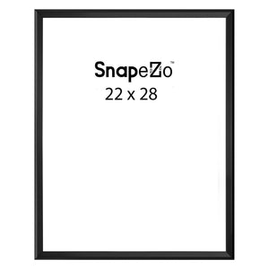 Black locking snap frame poster size 22X28 - 1.25 inch profile - Snap Frames Direct
