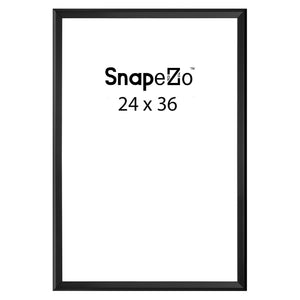 Black locking snap frame poster size 24X36 - 1.25 inch profile - Snap Frames Direct