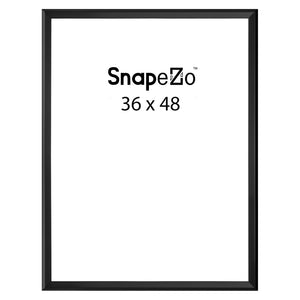 Black locking snap frame poster size 36X48 - 1.25 inch profile - Snap Frames Direct