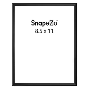Black poster case  poster size 8.5x11 - 1.77 inch profile - Snap Frames Direct