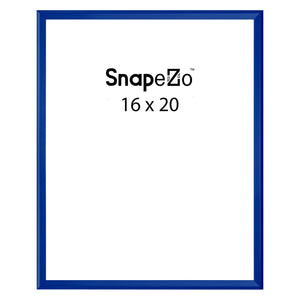 Blue locking snap frame poster size 16X20 - 1.25 inch profile - Snap Frames Direct