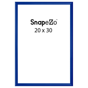 Blue locking snap frame poster size 20X30 - 1.25 inch profile - Snap Frames Direct