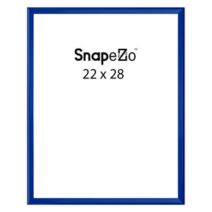 Blue locking snap frame poster size 22X28 - 1.25 inch profile - Snap Frames Direct
