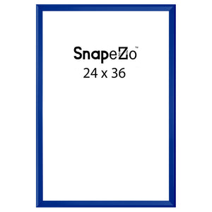 Blue locking snap frame poster size 24X36 - 1.25 inch profile - Snap Frames Direct