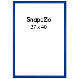 Blue locking snap frame poster size 27X40 - 1.25 inch profile - Snap Frames Direct