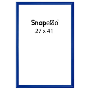 Blue locking snap frame poster size 27X41 - 1.25 inch profile - Snap Frames Direct