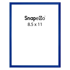 Blue poster case  poster size 8.5x11 - 1.77 inch profile - Snap Frames Direct