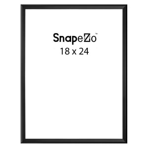 Dark Wood locking snap frame poster size 18X24 - 1.25 inch profile - Snap Frames Direct