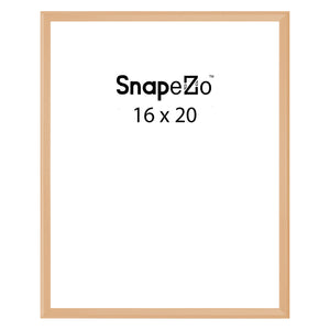 Gold locking snap frame poster size 16X20 - 1.25 inch profile - Snap Frames Direct