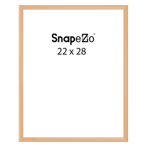 Gold locking snap frame poster size 22X28 - 1.25 inch profile - Snap Frames Direct