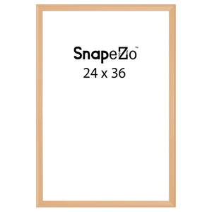 Gold locking snap frame poster size 24X36 - 1.25 inch profile - Snap Frames Direct