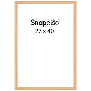Gold locking snap frame poster size 27X40 - 1.25 inch profile - Snap Frames Direct