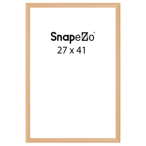Gold locking snap frame poster size 27X41 - 1.25 inch profile - Snap Frames Direct