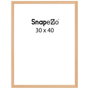 Gold locking snap frame poster size 30X40 - 1.25 inch profile - Snap Frames Direct