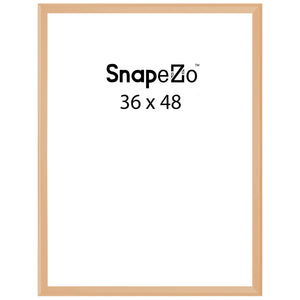 Gold sidewalk sign with sand/water-filled base for poster size 36x48 - 1.7 inch profile - Snap Frames Direct