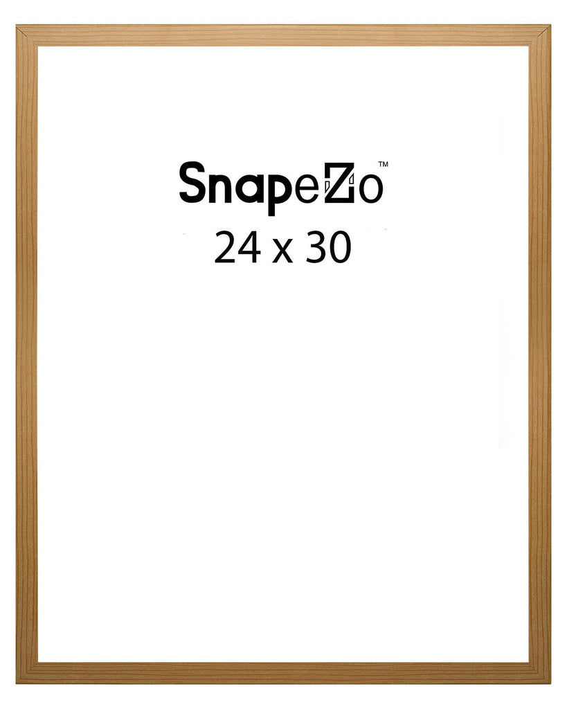 Light Wood Snap Frame Poster Size 24x30 125 Inch Profile