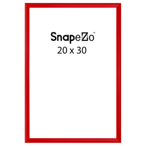 Red locking snap frame poster size 20X30 - 1.25 inch profile - Snap Frames Direct