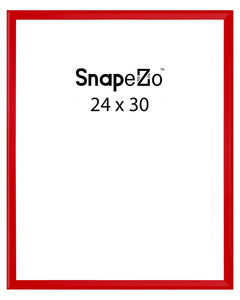 Red locking snap frame poster size 24X30 - 1.25 inch profile - Snap Frames Direct