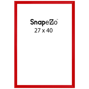 Red locking snap frame poster size 27X40 - 1.25 inch profile - Snap Frames Direct