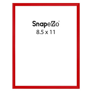 Red poster case  poster size 8.5x11 - 1.77 inch profile - Snap Frames Direct
